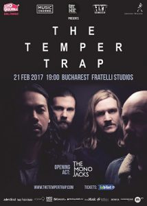 Program și acces concert The Temper Trap, 21 februarie, Fratelli Studios