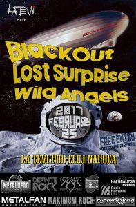 Blackout, Lost Surprise şi Wild Angels concertează în această seară în La Ţevi Pub din Cluj-Napoca