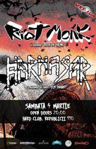 Harmasar şi Riot Monk vor concerta Sâmbătă în Hard Club Cluj-Napoca