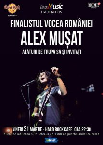 Concert Alex Muşat & Band la Hard Rock Cafe