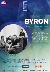 Trupa byron concertează Solo Together pe 10 martie la București
