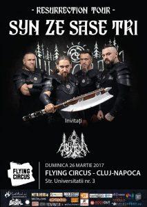 Programul concertului Syn Ze Şase Tri de duminică, de la Cluj-Napoca