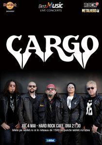 Concert CARGO în noua formulă pe 4 mai la Hard Rock Cafe