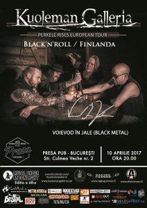 Black'n'roll finlandez cu Kuoleman Galleria luni, la Bucureşti