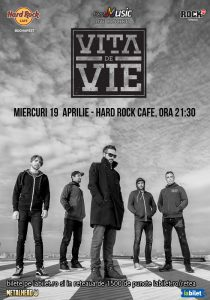 Concert Viţa de Vie – Electric pe 19 aprilie la Hard Rock Cafe