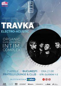Travka live Electro-Acustic, pe 7 aprilie la Bucureşti