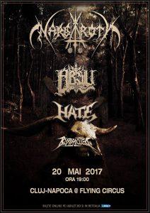 Nargaroth, Absu, Hate, Bloodrocuted şi Nekrodelirium vor concerta în week-end-ul care urmează în Cluj-Napoca şi Bucureşti