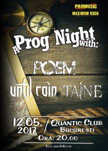 Doar o săptămână până la seara de prog din Quantic alături de Poem, Until Rain și Taine!