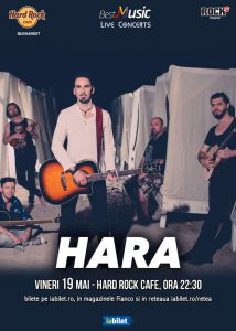 Concert Hara la Hard Rock Cafe pe 19 mai
