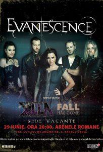 Află cine cântă alături de Evanescence la Bucureşti