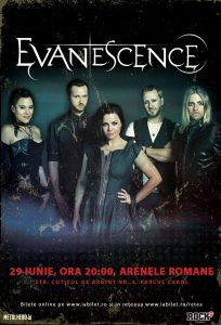 Evanescence la Bucureşti: Setlist de zile mari la Arenele Romane