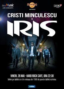 Concert Cristi Minculescu şi IRIS pe 26 mai la Hard Rock Cafe