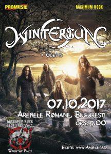 WINTERSUN va concerta în premieră la București, pe 7 octombrie (Arenele Romane)