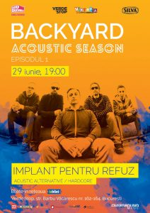 Seria de concerte Backyard Acoustic Season revine la București cu un nou sezon!