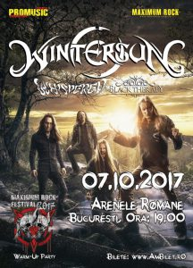 Whispered și Black Therapy vor cânta în deschiderea concertului Wintersun de la București