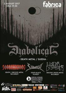 Programul concertului Diabolical din Club Fabrica