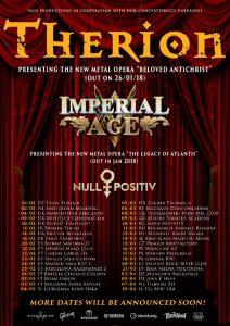 Au fost puse în vânzare biletele pentru concertul Therion din luna martie 2018