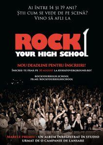 Rock Your High School, concursul dedicat trupelor alcatuite din liceeni, anunta cea de-a cincea editie