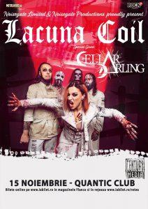 Concert Lacuna Coil şi Cellar Darling la Bucureşti pe 15 noiembrie