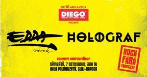 Holograf și Edda Müvek concertează în data de 7 Octombrie 2017 la Sala Polivalentă din Cluj-Napoca