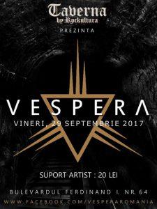 Vespera va susține un concert în Taverna by Rockcultura, la Alba Iulia