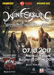Program și reguli de acces pentru concertele Wintersun, E-an-na, Whispered & Black Therapy (MRF Warm-up Party) / 7 octombrie