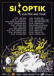 Sinoptik concertează în România în cadrul turneului The Electric Age din luna septembrie