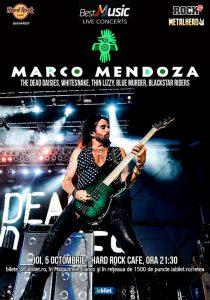 Legendarul Marco Mendoza cânta la Hard Rock Cafe pe 5 octombrie