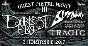 Darkest Era, Bloodway și Tragic vor concerta în București