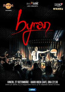 Concert byron – electric pe 27 octombrie la Hard Rock Cafe