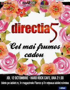 """ConcertDirecția 5 – """"Cel mai frumos cadou"""" la Hard Rock Cafe din București"""