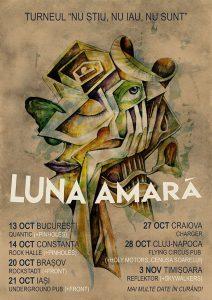 """Luna Amară pornesc în turneul național """"Nu știu, nu iau, nu sunt""""; primul concert, pe 13 octombrie la București"""
