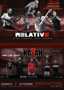"""Relative lansează albumul """"Positive"""" la Timişoara"""