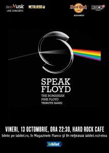 Concert Tribut Pink Floyd cu Speak Floyd la Hard Rock Cafe din Bucureşti