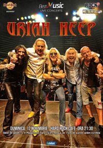 Concert URIAH HEEP pe 12 noiembrie la Hard Rock Cafe din Bucureşti