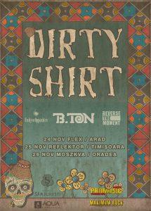 Unity of Opposites, B-Ton și Reverse The Moment concertează alături de Dirty Shirt în Arad, Timișoara și Oradea