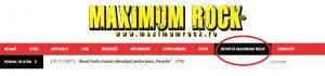De acum puteți cumpăra revista Maximum Rock printr-o simplă comandă pe site