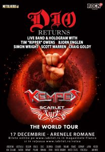 Kempes și Scarlet Aura cantă în deschiderea concertului DIO Returns – Program și Reguli de Acces