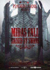 Psychedelicious prezintă: Midas Fall // Raised by Swans // pe 23 noiembrie @ Underworld Bucuresti