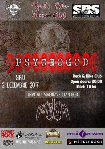 Trei concerte Psychogod, la Cluj, Zalău și Sibiu