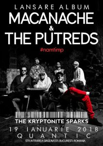 Macanache & The Putreds și The Krypytonite Sparks cântă pe 19 Ianuarie la Quantic Club