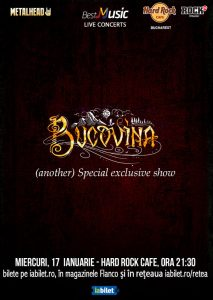 Bucovina special exclusive show pe 17 ianuarie la Hard Rock Cafe