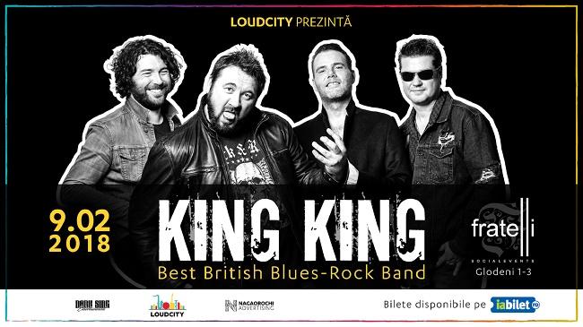 Loudcity aduce King King în România; Best British Blues-Rock Band cântă la București pe 9 februarie 2018