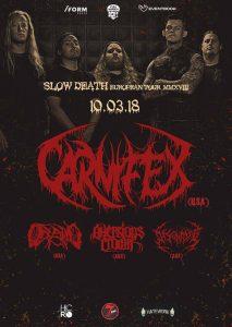 Carnifex, Oceano, Aversions Crown şi Disentomb vor concerta în Cluj-Napoca