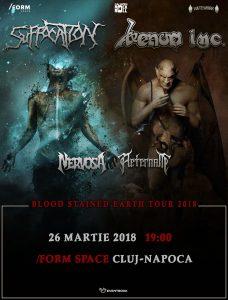 Venom Inc., Suffocation, Nervosa, Aeternam şi Survive vor concerta la Cluj-Napoca în 26 Martie