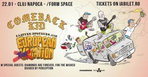 Comeback Kid şi For The Wicked vor concerta la sfârşitul lunii Ianuarie în Braşov şi Cluj-Napoca