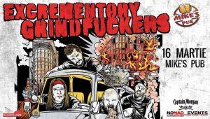 Excrementory Grindfuckers vor concerta în Cluj-Napoca şi Bucureşti
