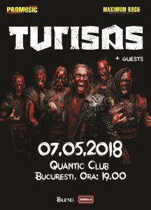 Turisas concertează la București în data de 7 mai
