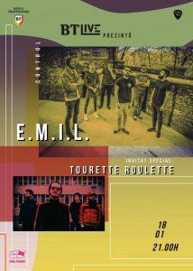E.M.I.L.încep anul de concerte deschizând seria BT Live în Club Control pe 18 ianuarie