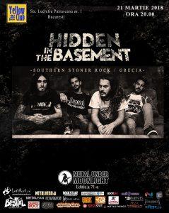 Concert Hidden in the Basement pe 21 martie, la București